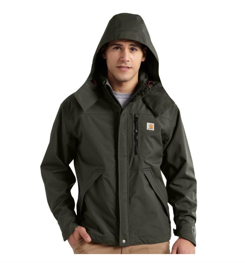 Carhartt J162 Men S Waterproof Breathable Shoreline Jacket