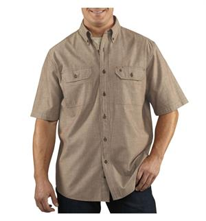 256-Dark Tan Chambray